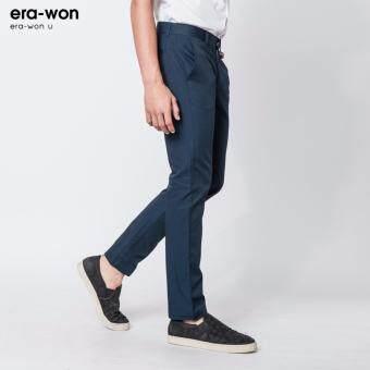 era-won กางเกงสแลคขายาว ทรงกระบอก era-won U กรมท่า(Navy) - 3