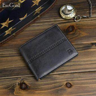 โปรโมชั่น EsoGoal Mens PU Leather Bifold Wallet,Short Slim Front Pocket Wallet