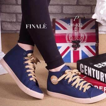 ESTHER รองเท้าผ้าใบแฟชั่นผู้หญิง รุ่น CSM322 - BLUE (สีน้ำเงิน)