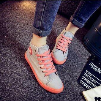 ESTHER รองเท้าผ้าใบแฟชั่นผู้หญิง รุ่น CSM322 - Grey