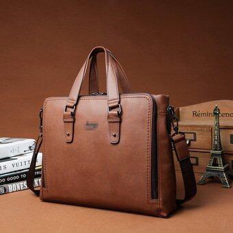 Europe Men Portable Handbag Men's Tote Bags Handbags Leather\nShoulder Bag (Camel) - intl(...)