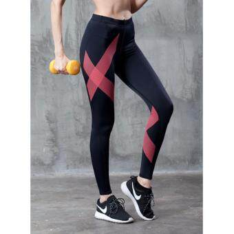 ซื้อ/ขาย EVS Women Compression Tights Move Black/Red