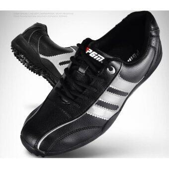 2561 EXCEED Unisex GOLF SHOES BLACK-Silver Colour รองเท้ากอล์ฟ PGM สีดำแถบเงิน XZ001 ( SIZE EU : 38 - EU : 44 )