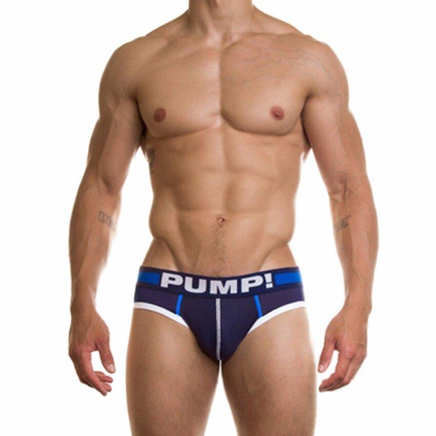 Fancyqube New Men Underwear Sexy Cotton Mens Boxer Shorts Man Male Boy Underpant Navy - intl