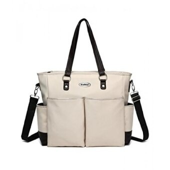 Fashion Baby Diaper Tote Bag Stylish Weekender Messenger Changing Pad Kidnid - intl