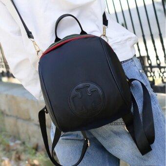 กระเป๋าเป้สะพายหลัง กระเป๋าสะพายหลังผู้หญิง Fashion backpack -สีดำ