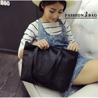 Harga Fashion Bag Fashion Women PU Leather Messenger Bag Handbag ShoulderTote Bags Color FB-10023 Black