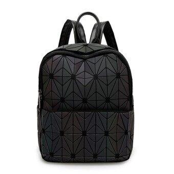 Fashion Bag New BaoBao Luminous Backpacks Female Fashion Girl Daily Backpack Geometry Package Sequins Folding Bao Bao School Bag - intl