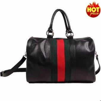 Fashion กระเป๋าถือ พร้อมสายสะพาย กระเป๋าสะพาย แบบมีหูหิ้ว รุ่น No.02254 (สีดำ)