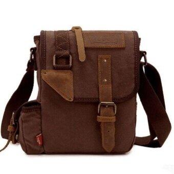 Fashion Vintage Men Messenger Bags Casual Travel Casual Chest Canvas Male Retro Man Shoulder Bag QT2128 - intl