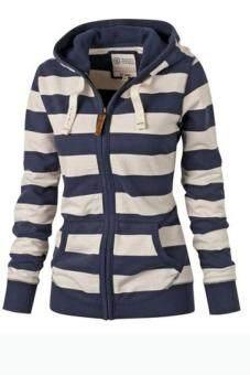 Fashion Women Cardigan Hooded Long Sleeve Sweatshirt Casual hoodieLadies Hoodies Size Knitted Jacket Pullover Sweater Coat - intl