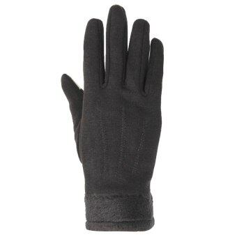 Fashion Women Outdoor Winter Warm Gloves Touch Screen Sport Ski Gloves Mittens Black - intl