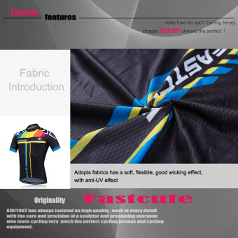 Fastcute Brand Cycling Jersey Short Sleeve Quick Dry Shirt Comfortable Breathable 3D Cushion Tights Sportswear FCS-0406 - 3