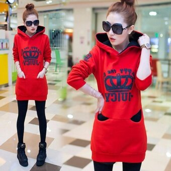 ***FINAL CLEARANCE*** High Quality Autumn Winter Women Fashion Printing Slim Pullover Sweatershirt Women Casual Wild Tops (Red)