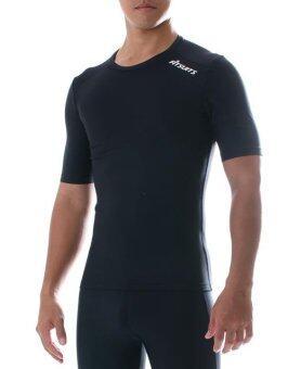 เสื้อรัดกล้ามเนื้อแขนสั้น ชาย FITSUITS ORIGINAL FM-S002-01 สีดำ เสื้อรัดกล้ามเนื้อ ชุดกีฬา วิ่ง โยคะ ฟิตเนส