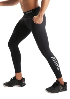 กางเกงรัดกล้ามเนื้อขายาว ชาย FITSUITS EXTRAFIT FM-TF001-01 สีดำ กางเกงรัดกล้ามเนื้อ ชุดกีฬา วิ่ง โยคะ ฟิตเนส