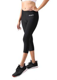 กางเกงรัดกล้ามเนื้อขาสี่ส่วน หญิง FITSUITS ORIGINAL FF-T002-01 สีดำ กางเกงรัดกล้ามเนื้อ ชุดกีฬา วิ่ง โยคะ ฟิตเนส