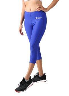 กางเกงรัดกล้ามเนื้อขาสี่ส่วน หญิง FITSUITS ORIGINAL FF-T002-06 สีน้ำเงิน กางเกงรัดกล้ามเนื้อ ชุดกีฬา วิ่ง โยคะ ฟิตเนส