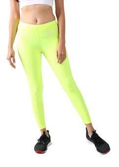 กางเกงรัดกล้ามเนื้อขายาว หญิง FITSUITS ORIGINAL FF-T001-11 สีเขียวสะท้อนแสง กางเกงรัดกล้ามเนื้อ ชุดกีฬา วิ่ง โยคะ ฟิตเนส