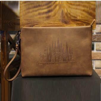 กระเป๋าถือ แบบหนัง รุ่น JDA70BR (Brown)