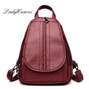 For Teenagers Fashion Women Backpack Genuine Leather Backpack Women Travel Bag College Preppy School Bag Girls Mochila Femininas - intl