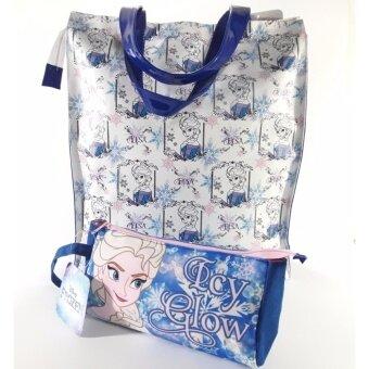 Frozen Elsa handbags กระเป๋าเอลซ่าแอนนา กระเป๋าสะพายเอลซ่า+กระเป๋าดินสอเอลซ่า สินค้าลิขสิทธิ์ Disney
