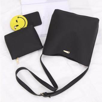 ประกาศขาย กระเป๋าสะพายข้าง กระเป๋าสะพายไหล่ กระเป๋า กระเป๋าผู้หญิงกระเป๋าถือ กระเป๋าสะพาย รุ่น 149c - สีดำ