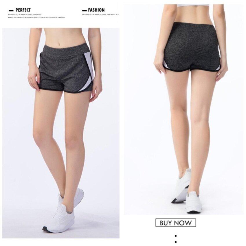 FULLBELIEF Woman Sports Shorts Running Gym Bodybuilding Summer Yoga Slim Quick-dry Ventilation Anti-exposure Thin Female Hot pants(White) - intl