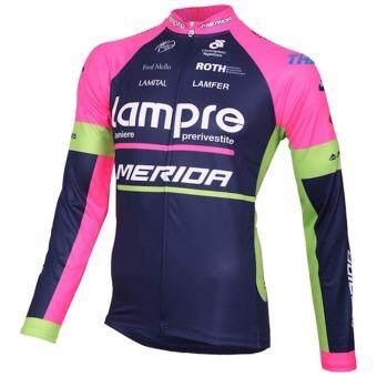 GF Lampre merida ชุดปั่นจักรยานลายทีม ชุดยาว (สีม่วง/ดำ) - 3
