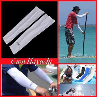 Gion - ปลอกแขนสำหรับใส่กันแสง UV สีขาว Free size