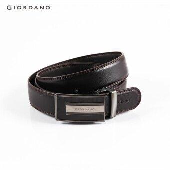 Giordano Men Auto-buckle leather belt 79132522 Brown - intl ราคาถูกที่สุด ส่งฟรีทั่วประเทศ