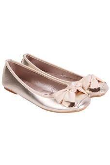 รองเท้าสตรีหญ้าคากุทัณฑ์แตะระดับ gomminoสี่เหลี่ยมแบนปลายรองเท้าทอง - 5