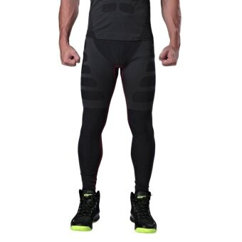 GOOD Comfortable Men Sport Running Tight Slim Pants Long Leggings Under Trouser - intl
