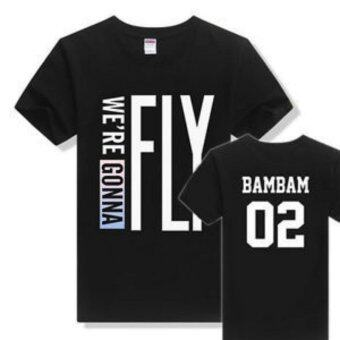 GOT7 FLY IN JAPAN Osaka concert short sleeve T-shirt men and womensummer clothes black (BAMBAM) - intl