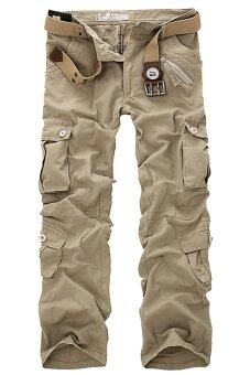 Gracefulvara Men's Army Military Cargo Pants Trousers (Khaki) -
