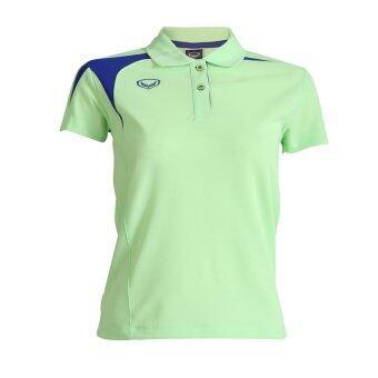 Grand sport เสื้อคอปกหญิงแกรนด์สปอร์ต (เขียวอ่อน)