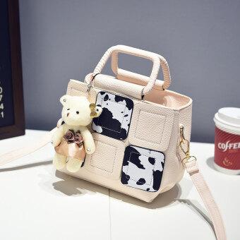 Haiyi ญี่ปุ่นและเกาหลีใหม่ของ Messenger กระเป๋าสะพายกระเป๋าถือ (สีเบจสี)