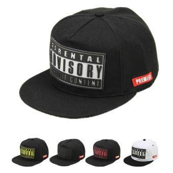 Hang-Qiao Couples Baseball Cap Letter Print Hip-hop Hats (Black andWhite) - intl