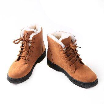 ได้แก่ เฉียวสวมรองเท้าบู๊ตฤดูหนาวหิมะรองเท้าบู๊ตรองเท้าสตรีรองเท้ากำมะหยี่ยังพลัดสีน้ำตาล