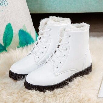 Hanyu Women's Snow Boots Martin Boots Outlets Waterproof LadisShoes(White Size 35) - intl