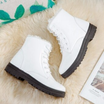 Hanyu Women's Snow Boots Martin Boots Outlets Waterproof LadisShoes(White Size 35) - intl - 5