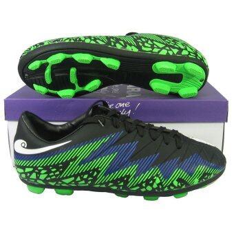 รองเท้าฟุตบอล รองเท้าสตั๊ด HARA F-90 ดำเขียว