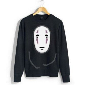 Harajuku Hoodies Sweatshirts Pullover Black Coat Japanese Anime -intl