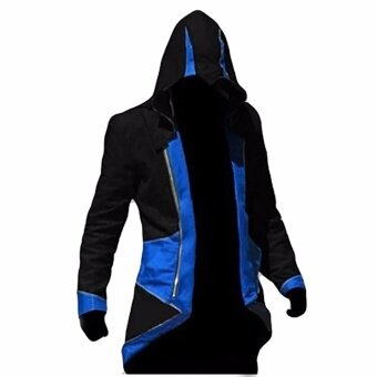 Hequ Assassins s Creed 3 Anime Game Connor Red Black 7 Color ToChoose Coat Cos Cosplay Blue(Int:XXL) - intl