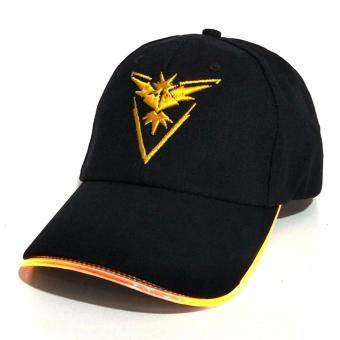 Hequ New fashion Baseball capsHot style LED fiber optic hat PokemonPokemon GO light hat fashion chic style Yellow - intl