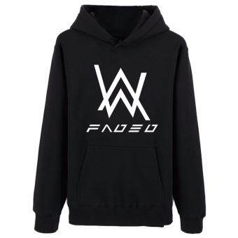 Hequ The new Alan Walker DJ Alan Walker Hoodie sweater zipper setbass Faded the latest version of the luminous coat and tideBlack(Int:XXL) - intl