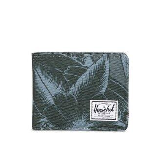 Herschel Supply Co Roy Jungle Floral Green Bifold Wallet