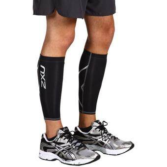 High Quality Male and Woman Compression Calf Guard Casual SocksBlack Fabric Polyester (Black) - 2