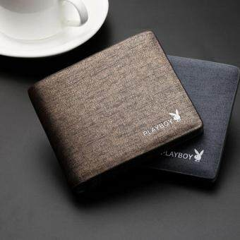 High Quality Men Geniune Leather Wallet Card Money Holder ShortBusiness Wallet For Men Blue - intl