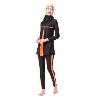 ชุดว่ายน้ำอิสลามปานกลางชุดว่ายน้ำอิสลามชุดว่ายน้ำผู้หญิง Hijabชุดว่ายน้ำเต็มชุดว่ายน้ำมุสลิมชุดว่ายน้ำชุดว่ายน้ำชุดกีฬาเครื่องแต่งกายสีส้ม